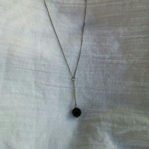 Dangling Black Crystal Necklace